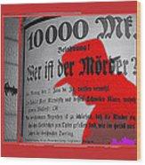Proto Film Noir Peter Lorre Fritz Lang M 1931 Screen Capture Poster 2013 Wood Print