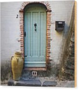 Provence Door Number 2 Wood Print