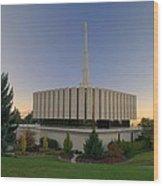 Provo Utah Lds Temple Wood Print