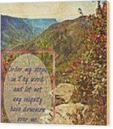 Psalm 119 133 Wood Print