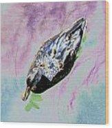 Psychedelic Mallard Duck 2 Wood Print