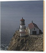 Pt Reyes Lighthouse Wood Print by Bill Gallagher