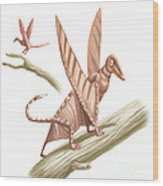 Pterandon, Illustration Wood Print