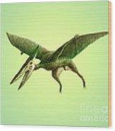 Pterodactyl, Cretaceous Dinosaur Wood Print