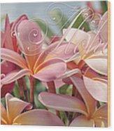 Pua Melia Ke Aloha Maui Wood Print