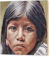 Pueblo Girl Wood Print