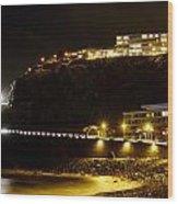 Puerto De La Cruz By Night Wood Print