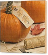 Pumpkins For Thanksgiving Wood Print