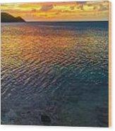 Purple And Orange Sunset Wood Print