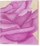 Purple Organdy Rose Wood Print