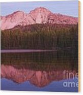 Purple Reflections Wood Print