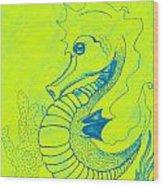 Q-t The Purdiest Seahorse Wood Print