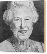 Queen Elizabeth Wood Print