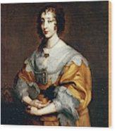 Queen Henrietta Maria Wood Print