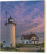 Race Point Lighthouse Sunset Wood Print