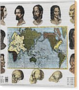 Racial Types, 19th Century Wood Print