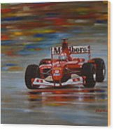 Racing Car Wood Print