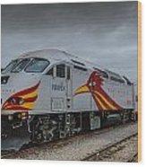 Rail Runner Locomotive Wood Print