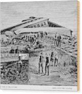 Railroad Accident, 1887 Wood Print