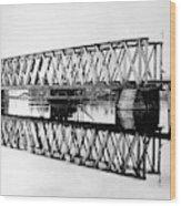 Railroad Bridge Red River Wood Print