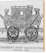 Railroad Passenger Car Wood Print