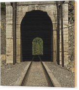 Railroad Tunnel 3 Bnsf 1 B Wood Print