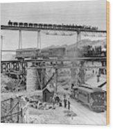 Railroading Construction Wood Print
