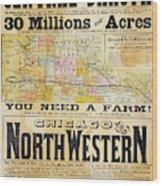 Railway Poster, 1870s Wood Print