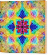 Rainbow Light Mandala Wood Print