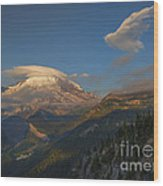 Rainier Capped Wood Print