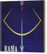 Rama The Avatar Wood Print by Tim Gainey