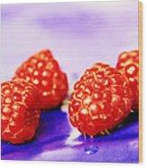 Raspberries Wood Print