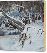 Rattlesnake Creek Wood Print