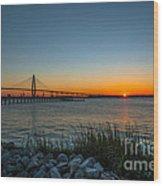 Charleston Sundown Wood Print
