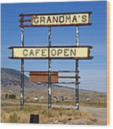 Rawlins Wyoming - Grandma's Cafe Wood Print