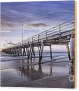 Ready Jetty Go Wood Print by Shannon Rogers