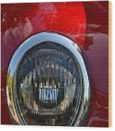 Red Classic Ford Wood Print