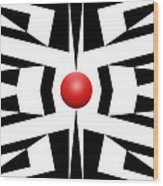 Red Ball 8 Wood Print