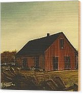 Red Barn   No. 3 Wood Print
