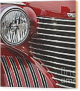 Red Cadillac Wood Print