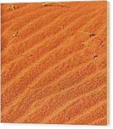 Red Dune Wood Print