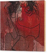 Red Is The Color Of Love Wood Print