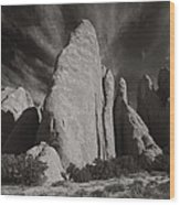 Red Rock Sentinels  Wood Print