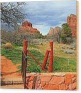 Enter Red Rock Country Wood Print