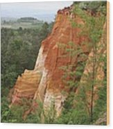 Red Rocks Of Roussillon  Wood Print