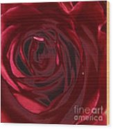 Red Rose Abstract 2 Wood Print