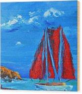 Red Sails Wood Print