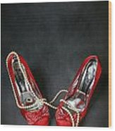 Red Shoes Wood Print by Joana Kruse