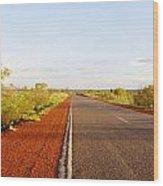 Red Soil Wood Print