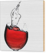 Red Wine Wood Print